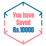 You Have Saved Rs. 10000